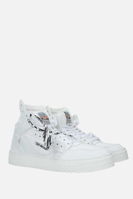 OFF WHITE: Off-Court 3.0 canvas high-top sneakers Color White_2