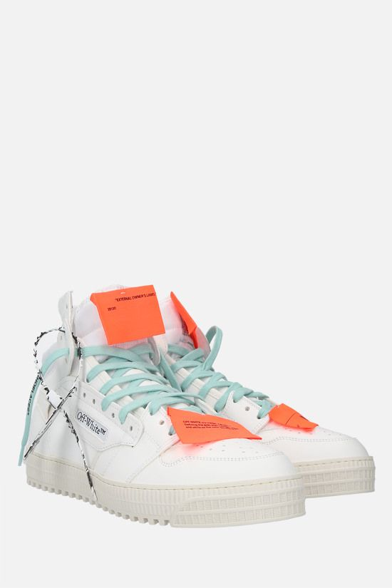 OFF WHITE: Off-Court 3.0 smooth leather and canvas sneakers Color White_2