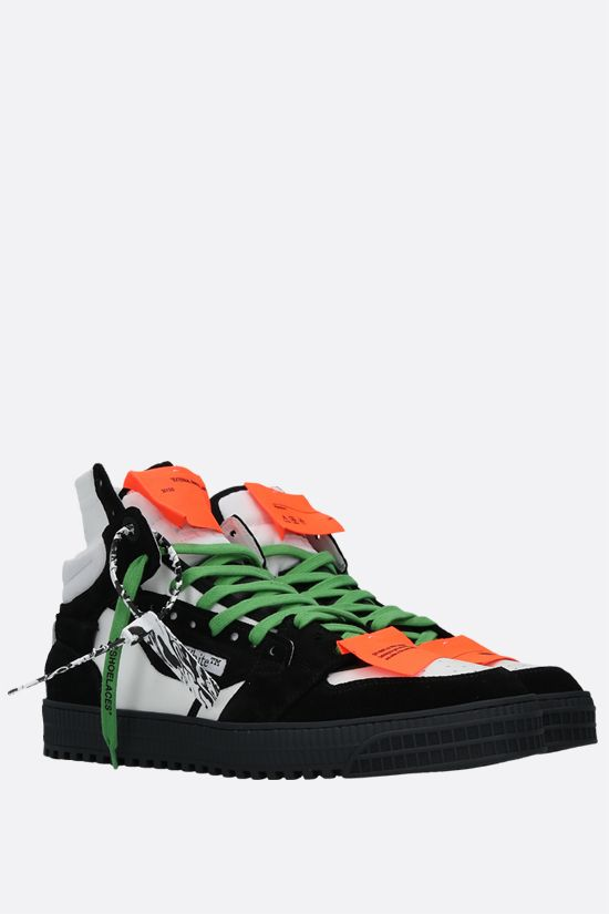 OFF WHITE: Off Court 3.0 smooth leather and suede high-top sneakers Color Black_2