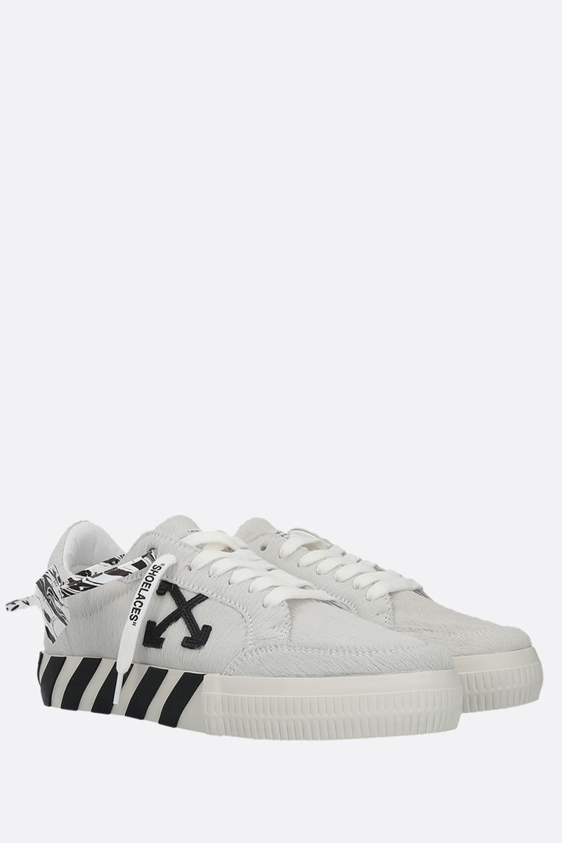 OFF WHITE: Low Vulcanized pony sneakers Color White_2