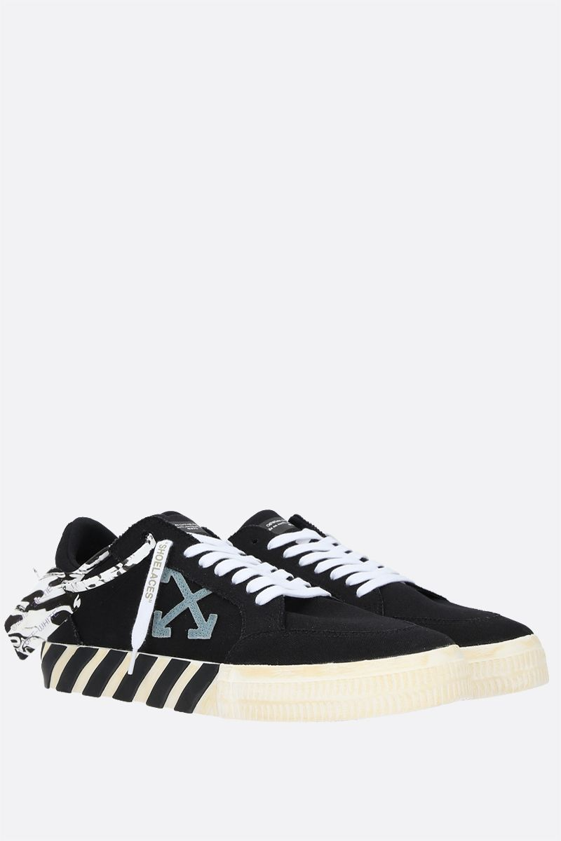 OFF WHITE: Low Vulcanized eco canvas sneakers Color Black_2