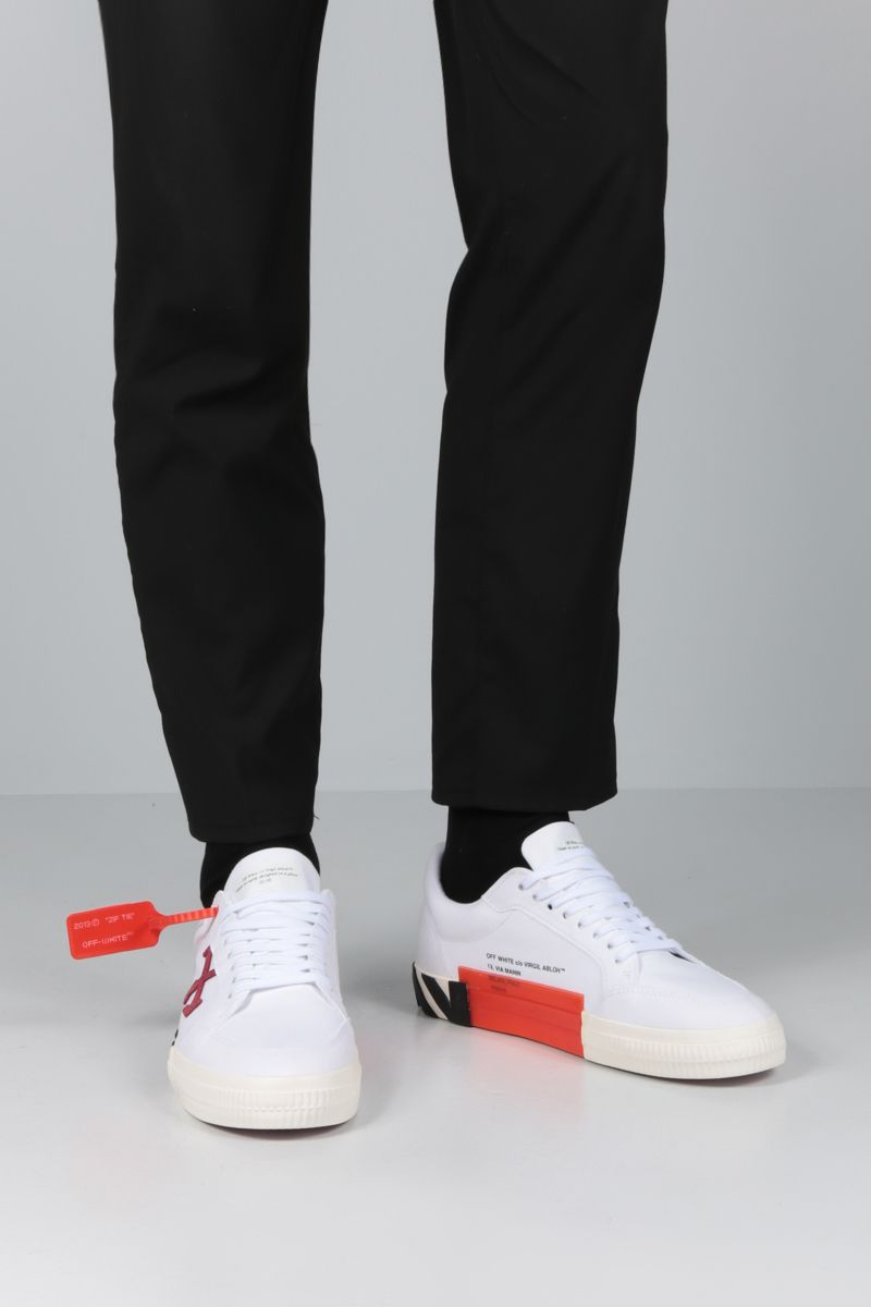 OFF WHITE: Low Vulcanized sneakers in technical fabric and suede_2