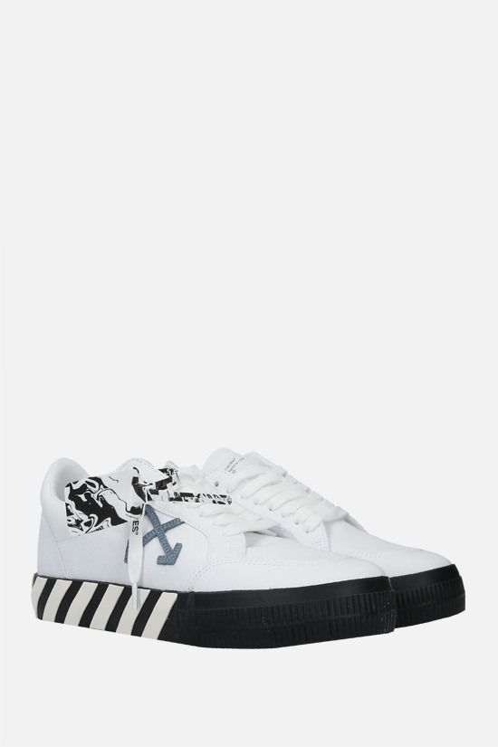 OFF WHITE: sneaker Low Vulcanized in canvas Colore Bianco_2