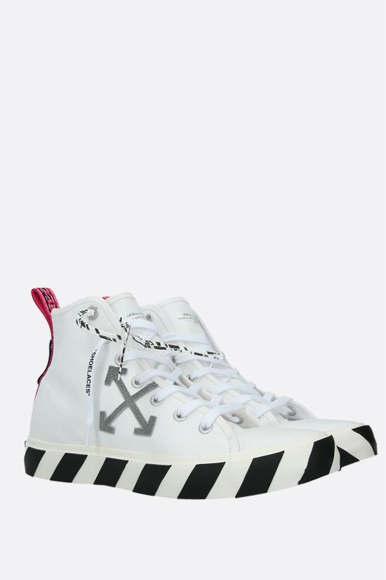 OFF WHITE: Vulcanized canvas high-top sneakers Color White_2