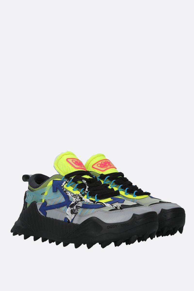 OFF WHITE: ODSY-1000 mesh and leather sneakers_2