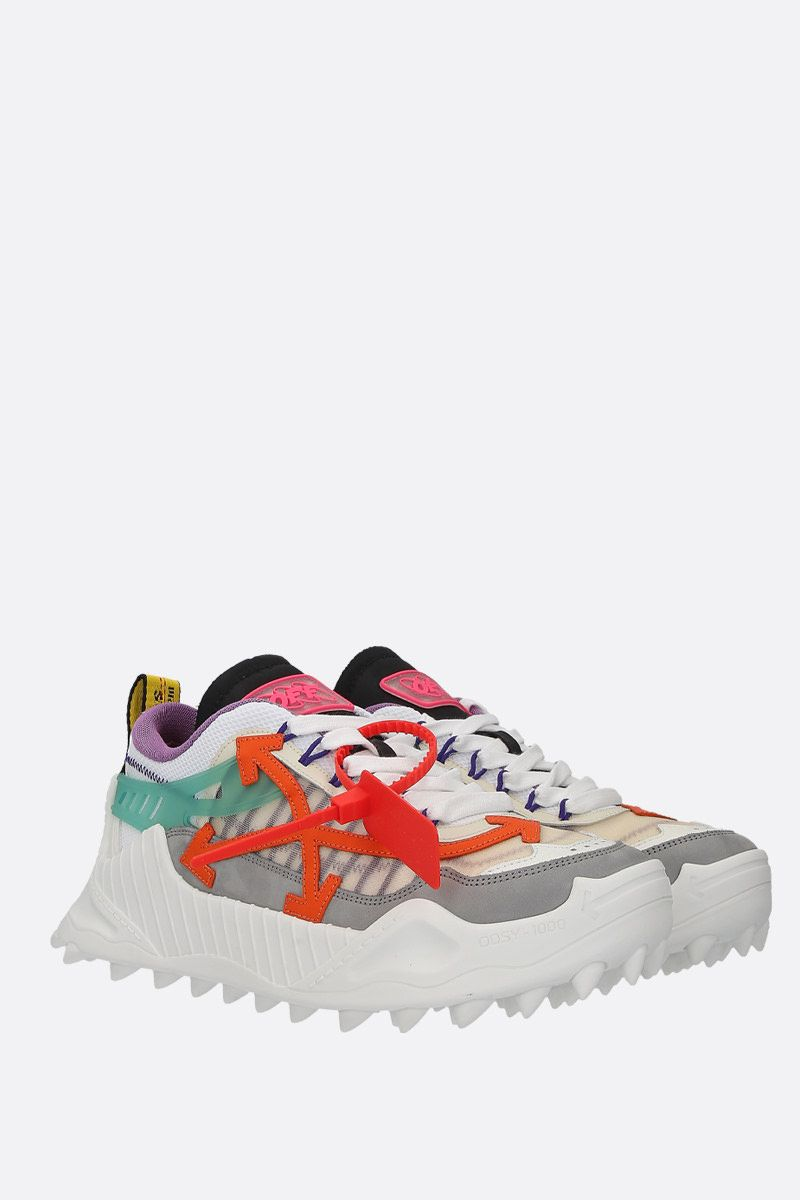OFF WHITE: sneaker Odsy-1000 in rete e nabuk Colore Multicolore_2