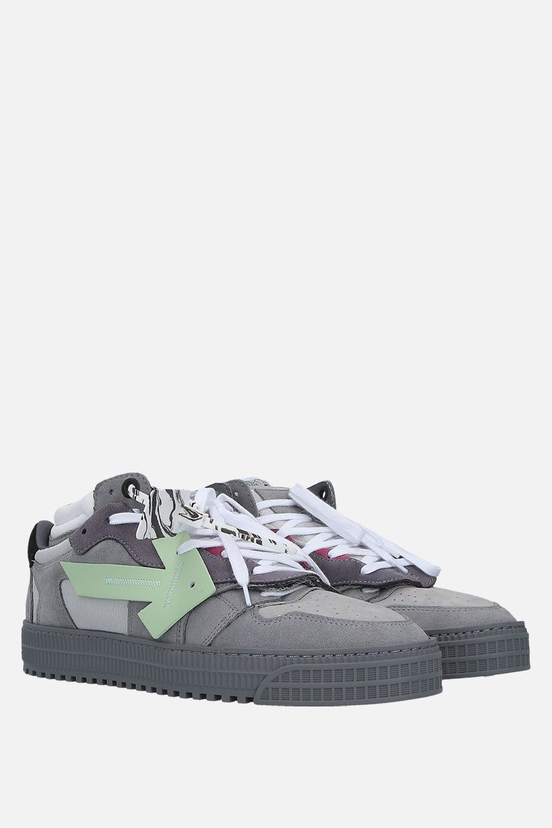 OFF WHITE: Off Court sneakers in a mix of materials Color Grey_2