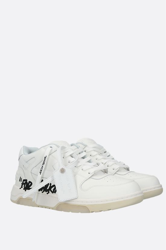 OFF WHITE: sneaker Out Of Office in pelle liscia Colore Bianco_2