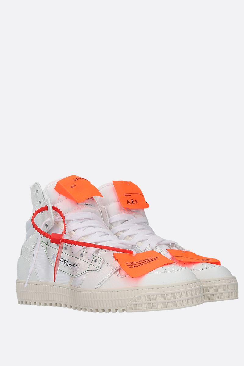 OFF WHITE: Off-Court 3.0 grainy leather sneakers Color White_2