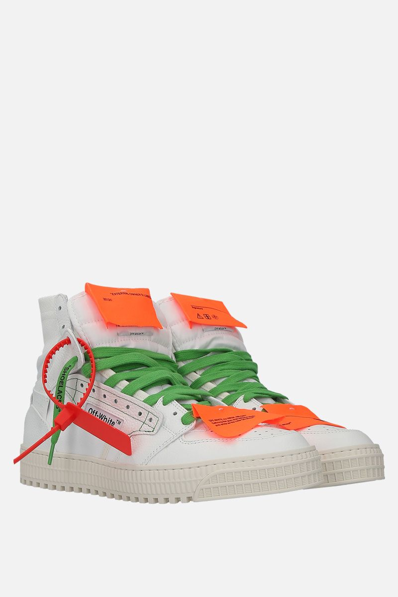 OFF WHITE: Off-Court 3.0 sneakers in grainy leather and canvas Color White_2