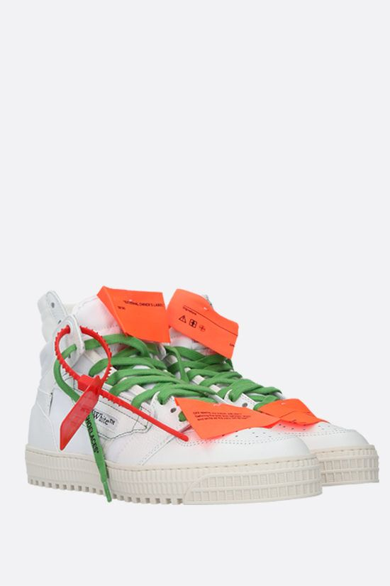 OFF WHITE: Off-Court 3.0 grainy leather and canvas sneakers Color White_2