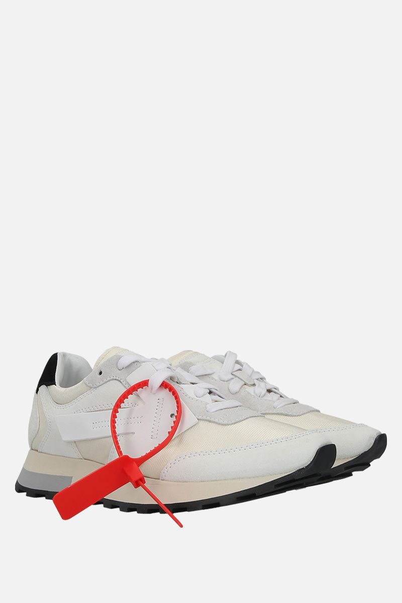 OFF WHITE: HG Runner sneakers in nylon and suede Color White_2