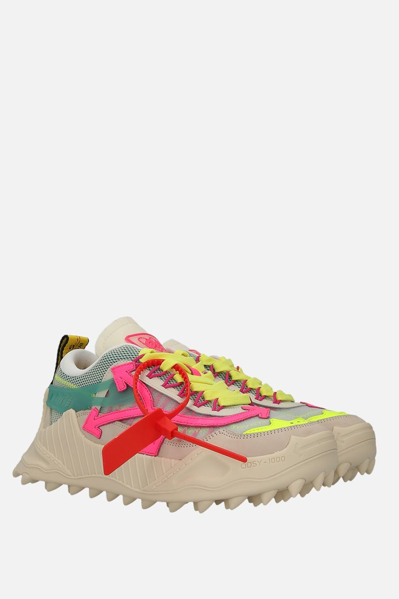 OFF WHITE: Odsy-1000 sneakers in mesh and nabuk Color Multicolor_2