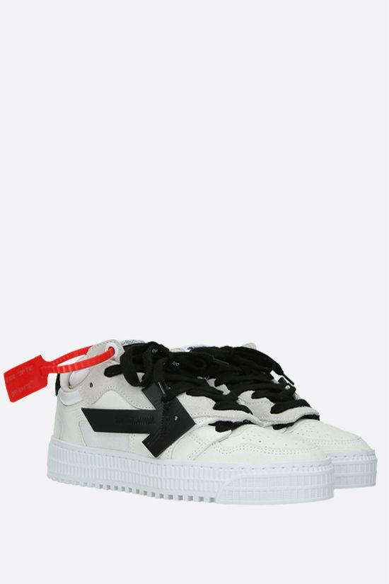 OFF WHITE: Off-Court 3.0 suede and mesh low-top sneakers Color White_2