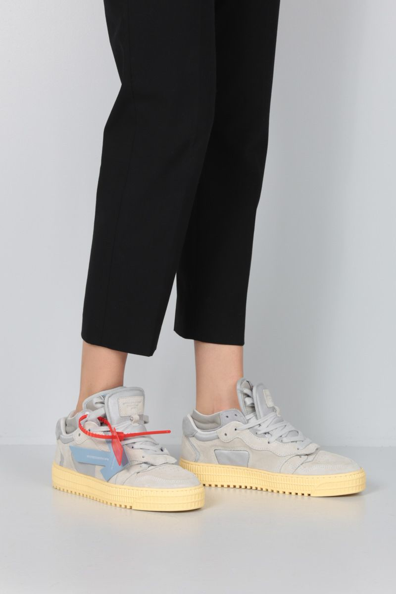 OFF WHITE: Off-Court 3.0 suede sneakers Color Grey_2