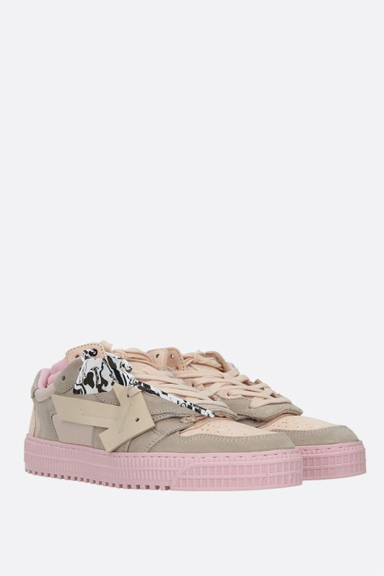 OFF WHITE: Off-Court 3.0 suede and mesh low-top sneakers Color Pink_2