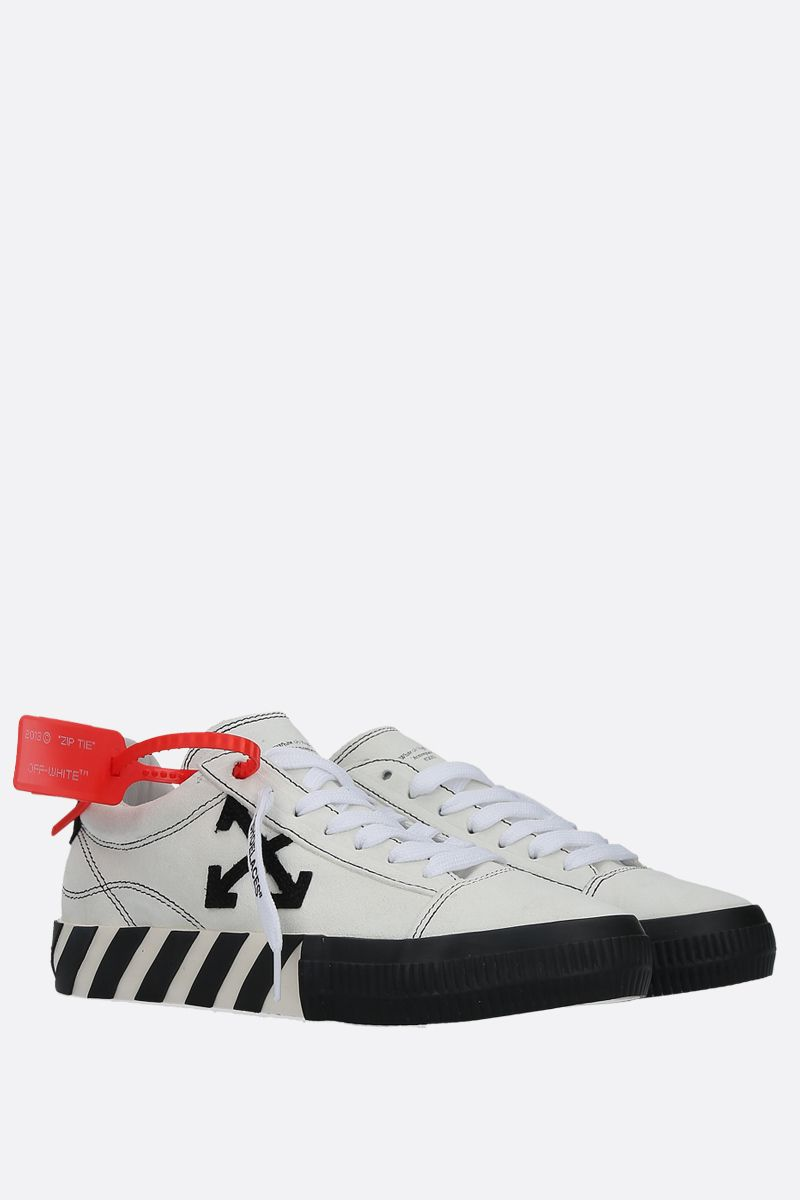 OFF WHITE: New Arrow Low Vulcanized suede sneakers Color White_2