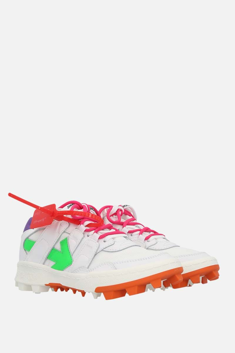 OFF WHITE: Mountain Cleats smooth leather and mesh sneakers Color Multicolor_2