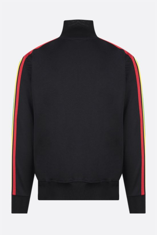 PALM ANGELS: felpa full-zip Exodus in jersey tecnico Colore Nero_2
