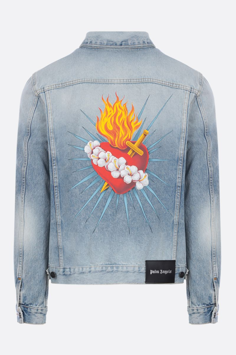 PALM ANGELS: Sacred Heart denim jacket Color Blue_2