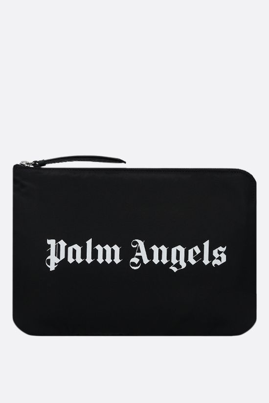 PALM ANGELS: Essential nylon clutch Color Black_1