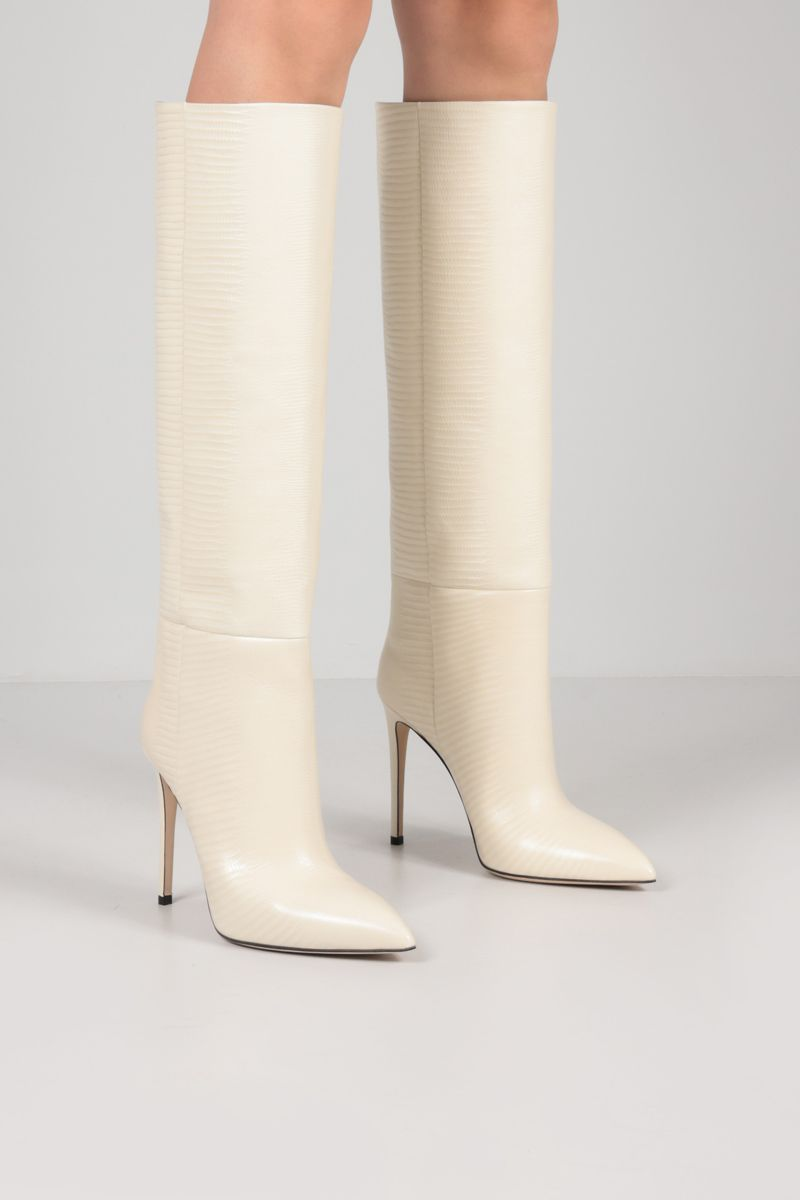 PARIS TEXAS: lizard embossed leather boots Color Yellow_2