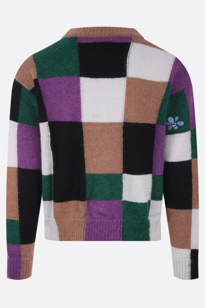 PERKS AND MINI: cardigan Communal Fields in misto mohair Colore Multicolor_2