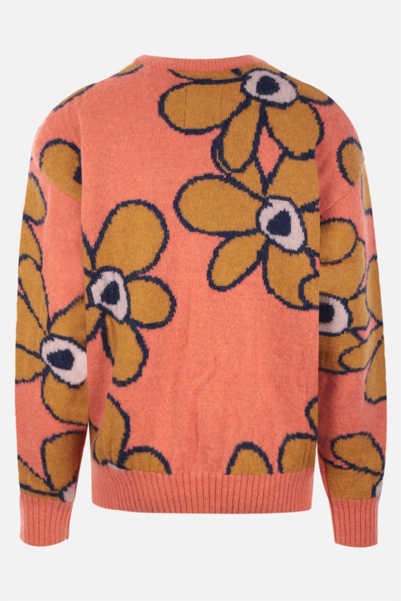 PERKS AND MINI: pullover oversize G.L. Dr. Octagon in misto mohair Colore Orange_2