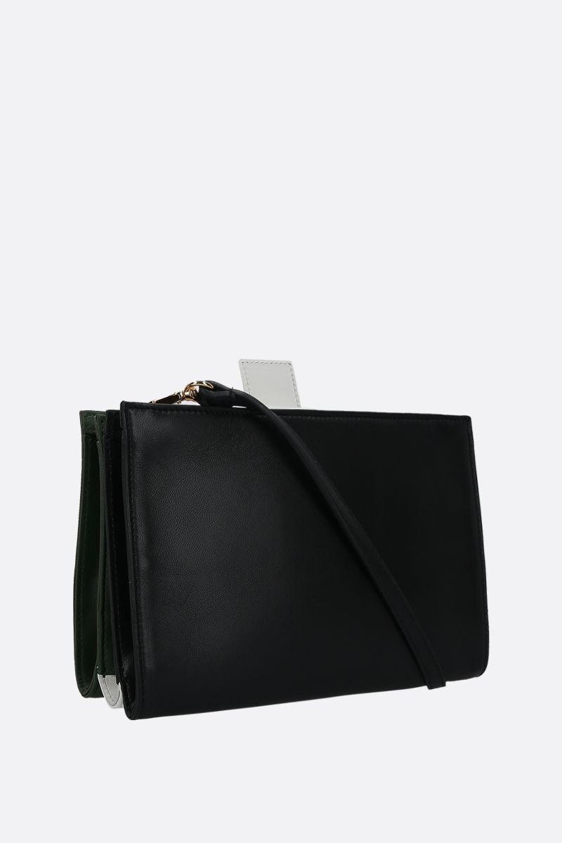 PLAN C: soft nappa strap clutch Color Green_2