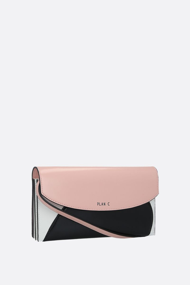 PLAN C: shiny leather strap wallet Color Pink_2