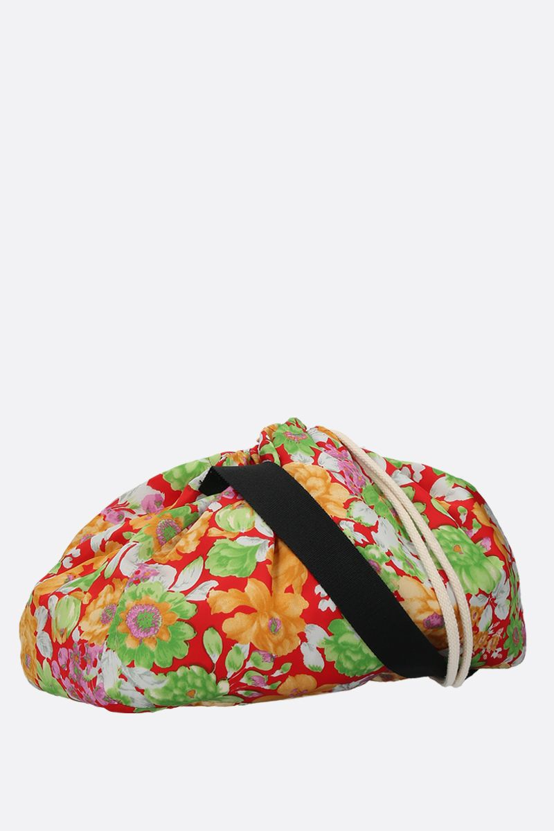 PLAN C: floral-print satin messenger bag Color Multicolor_2