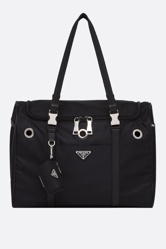 PRADA: Re-Nylon pet bag Color Black_1