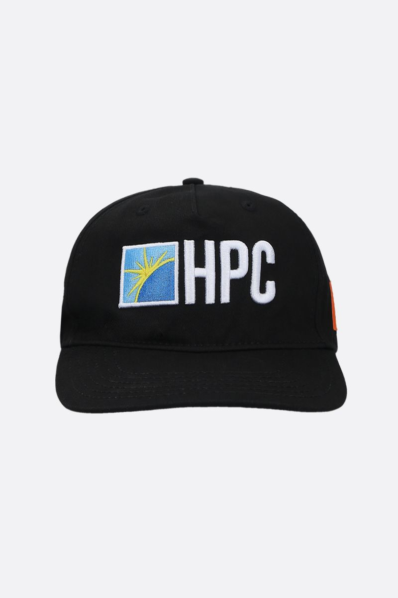HERON PRESTON: cappello baseball HPC in gabardine Colore Nero_1