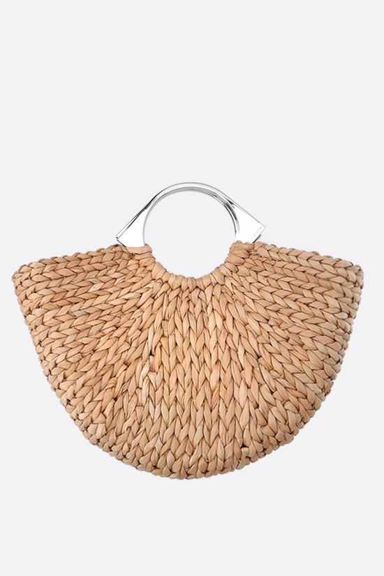 PACO RABANNE: Op'art corn husk basket bag Color Brown_1