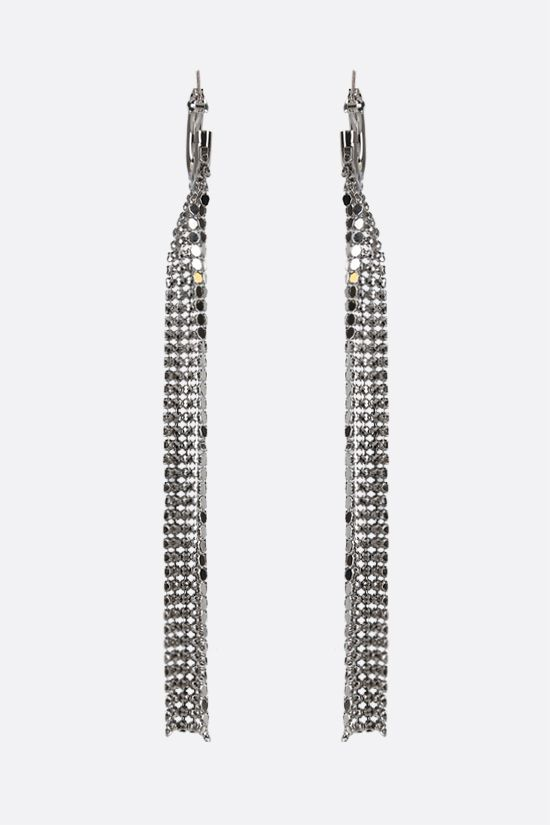 PACO RABANNE: metal mesh earrings Color Silver_2