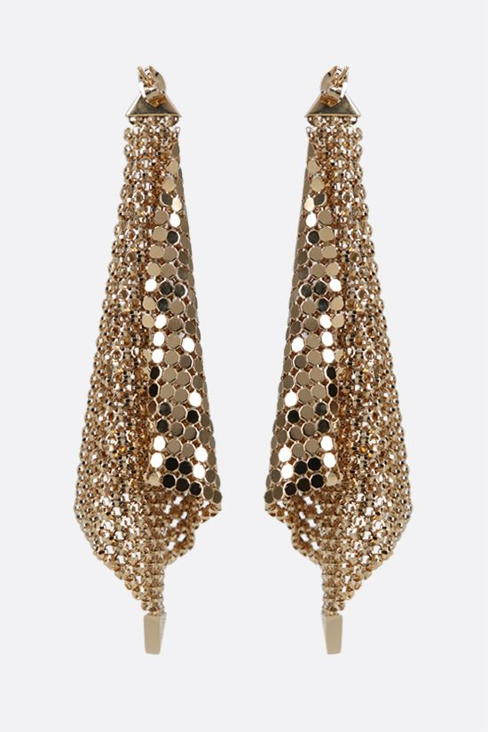 PACO RABANNE: metal mesh earrings Color Gold_2