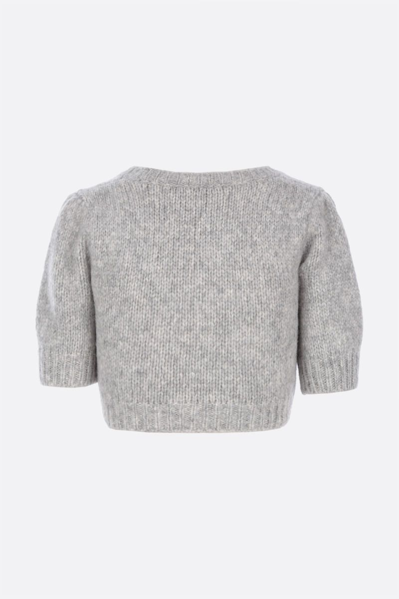ALESSANDRA RICH: cropped knit top Color Grey_2