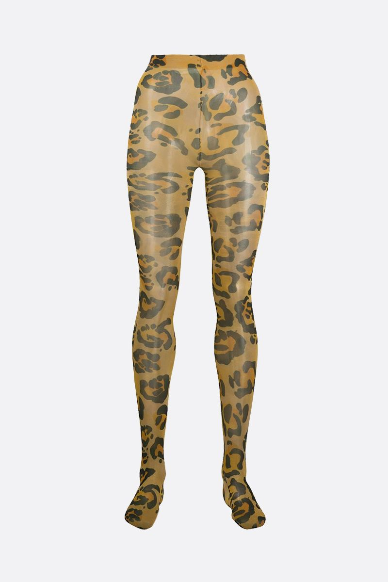 RICHARD QUINN: leopard print nylon tights Color Animalier_1