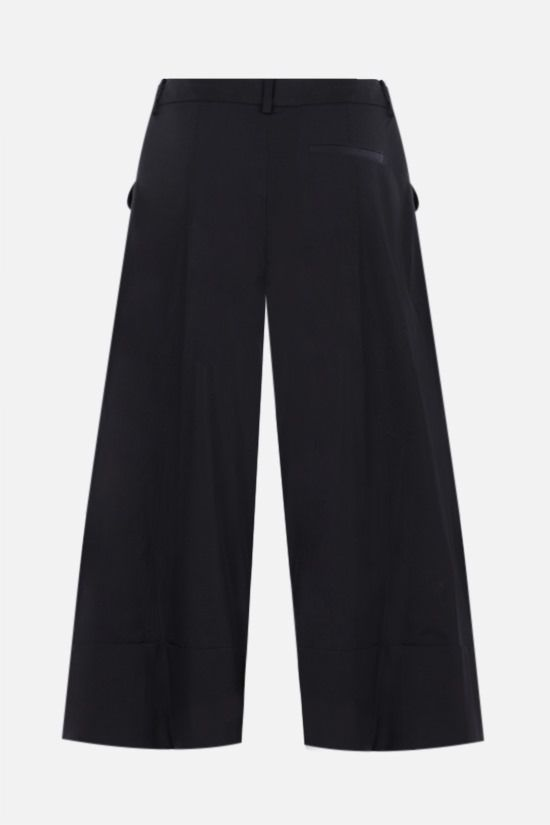 SIMONE ROCHA: cropped cotton wide-leg pants Color Black_2