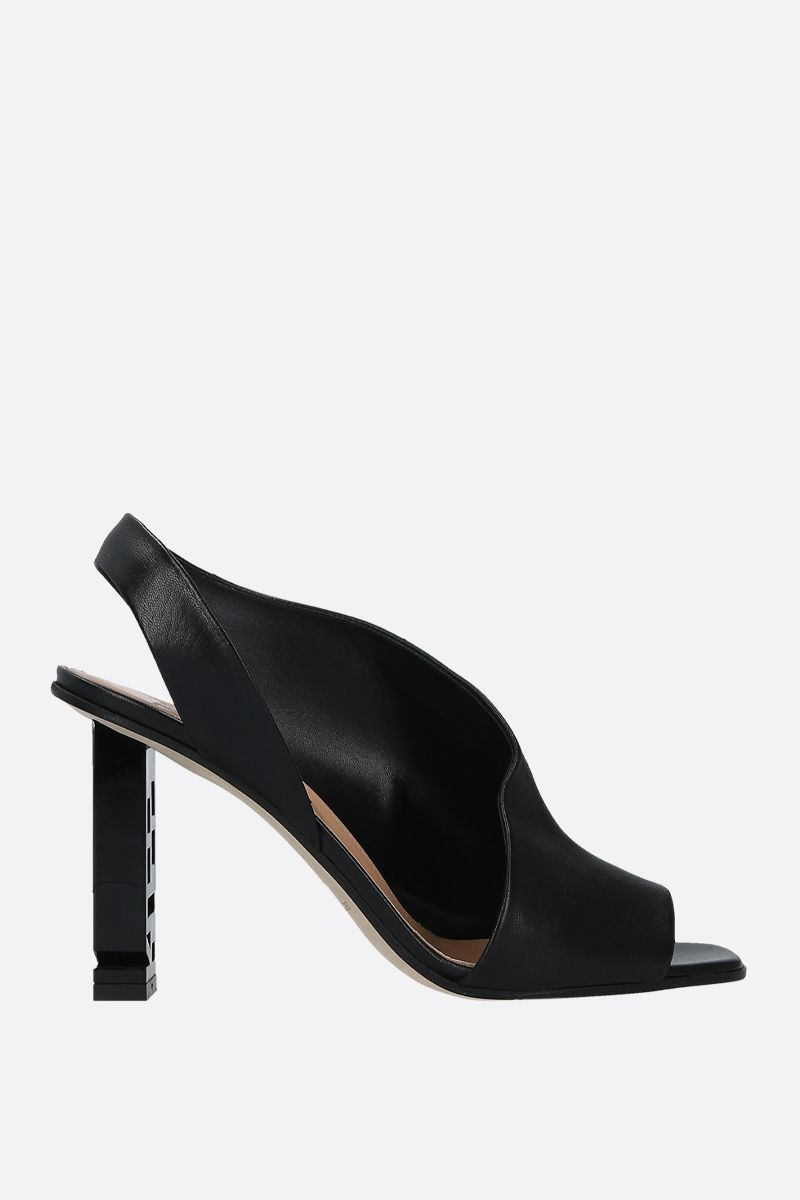 SERGIO ROSSI: Sergio Super Heel nappa leather sandals Color Black_1
