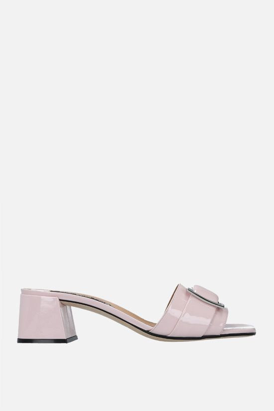 SERGIO ROSSI: sr Prince patent leather mule sandals Color Pink_1