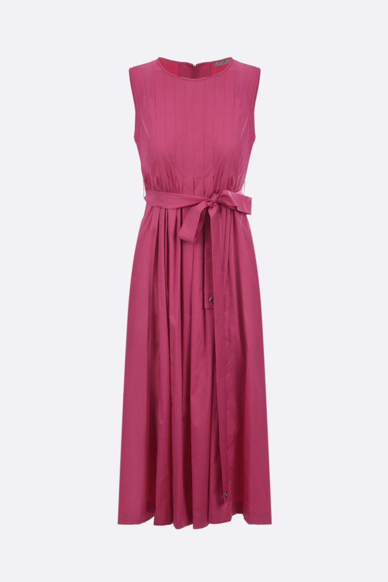 'S MAX MARA: Extra stretch poplin sleeveless dress Color Pink_1