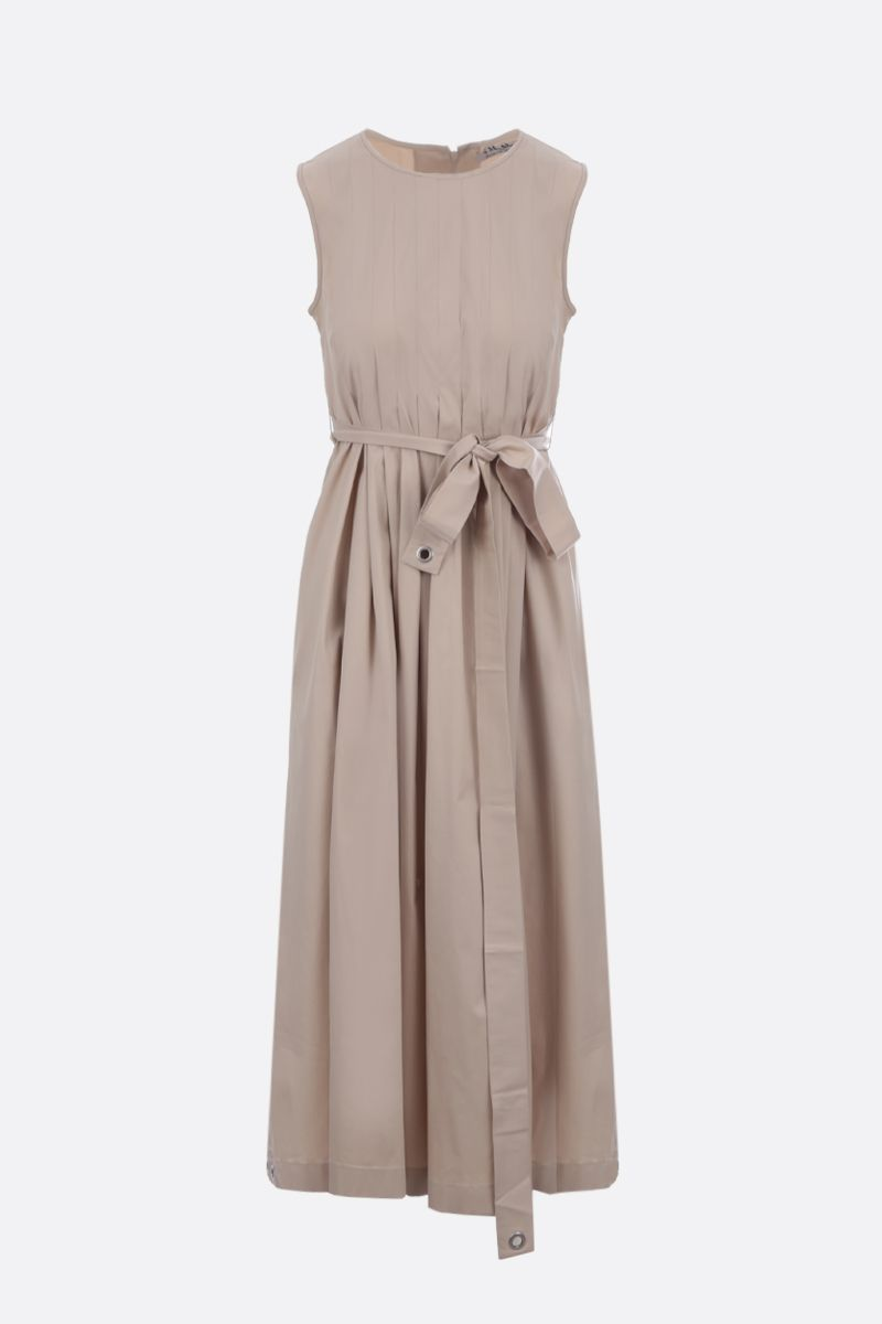 'S MAX MARA: Extra stretch poplin sleeveless dress Color Neutral_1