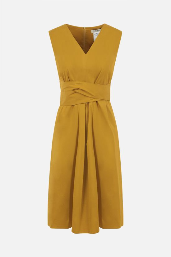 'S MAX MARA: Estremo cotton midi dress Color Yellow_1
