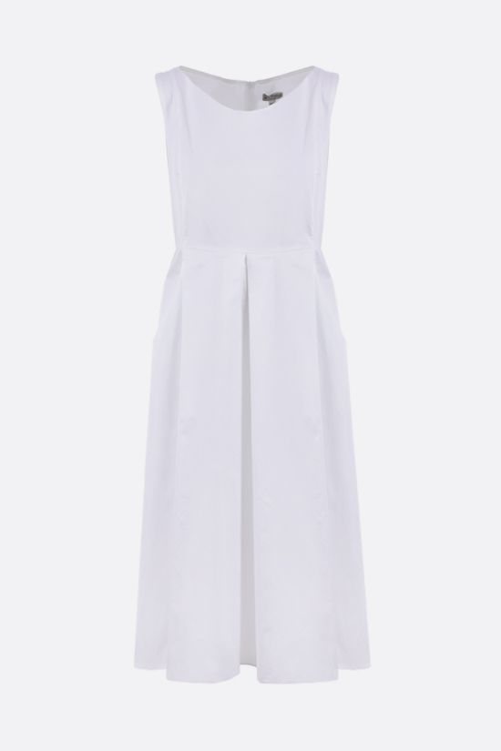 'S MAX MARA: Pisa cotton satin midi dress Color White_1