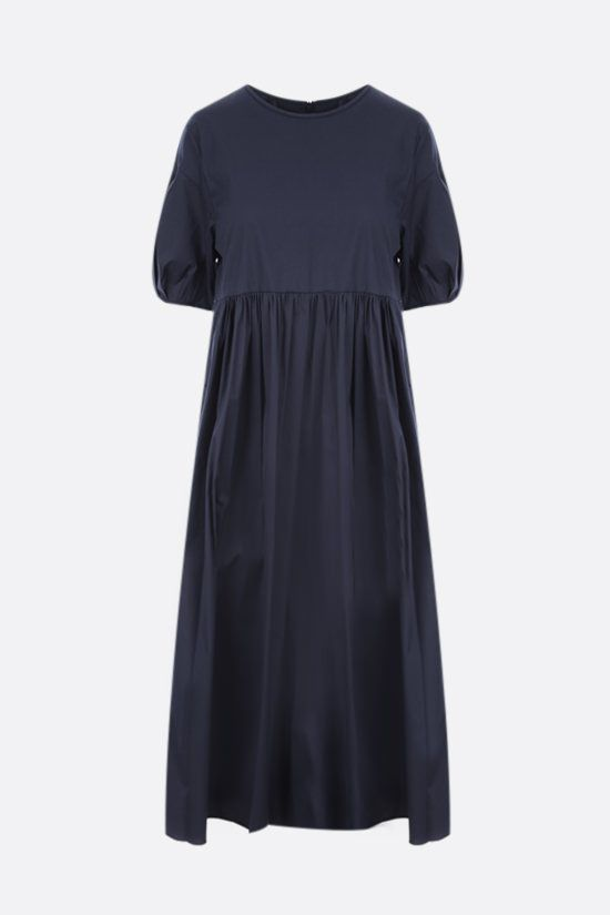 'S MAX MARA: Fato cotton midi dress Color Blue_1