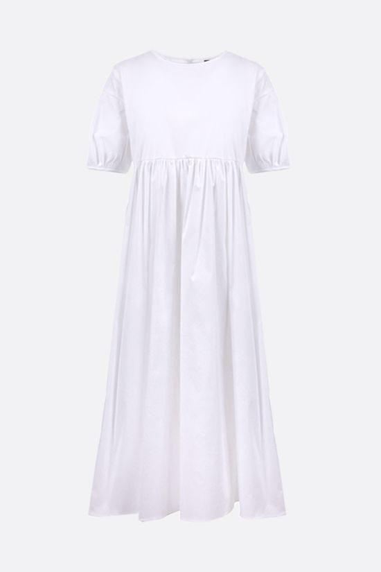 'S MAX MARA: Fato cotton midi dress Color White_1