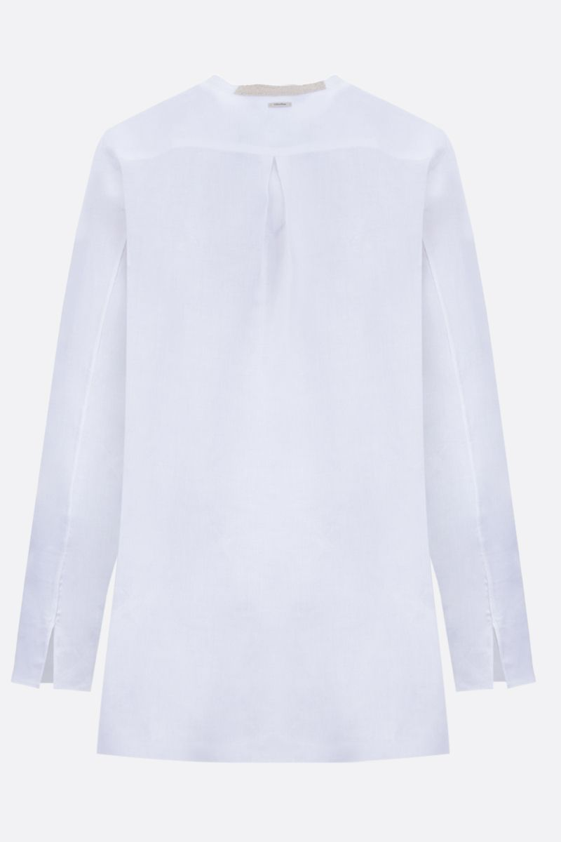 'S MAX MARA: Bird linen shirt Color White_2