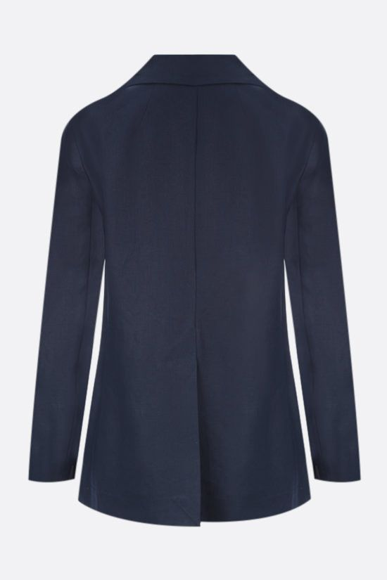 'S MAX MARA: Pianosa double-breasted linen jacket Color Blue_2