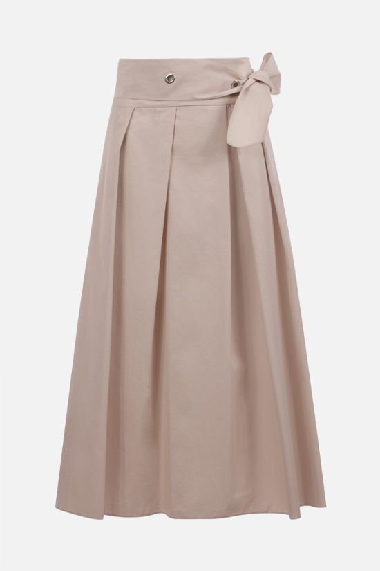 'S MAX MARA: Ardenza cotton midi skirt Color Neutral_1